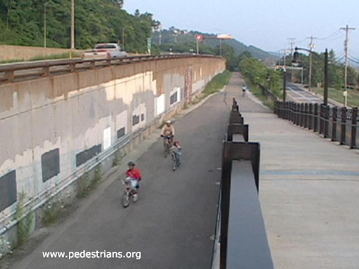 Bicycle trail in Pittsburgh