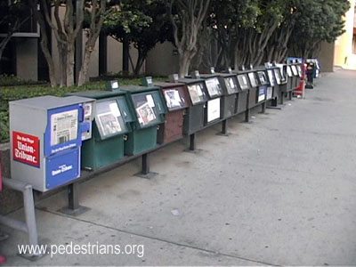 Fixed news racks, San Diego